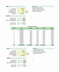 Amortization Schedule With Balloon Payment Loan Amortization Schedule Excel 7 Examples In Excel