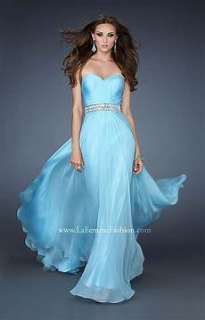 La Femme Light Blue Dress La Femme 18471 Gone With The Wind Prom Dress