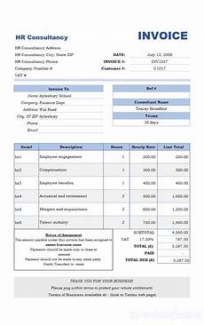 Invoice Format For Consultancy Free Invoice Template For Hours Worked 20 Results Found