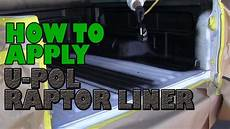 how to apply u pol raptor truck bed liner