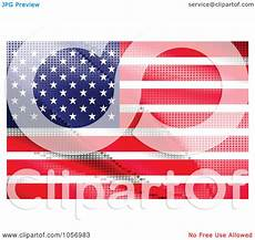 American Flag Watermarks Royalty Free Vector Clip Art Illustration Of An American