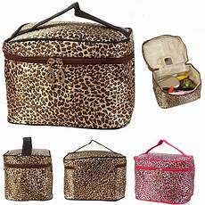 fashion leopard print cosmetic bags womentravel