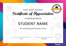 Text For Certificate Of Recognition 30 Free Certificate Of Appreciation Templates And Letters