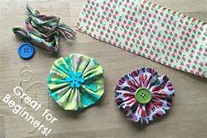 sewing for beginners easy fabric flowers ted
