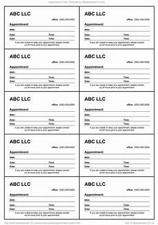 Appointment Cards Template Appointment Card Template For Word
