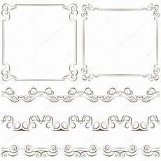 cornici eleganti set di eleganti cornici e bordi vettoriali stock