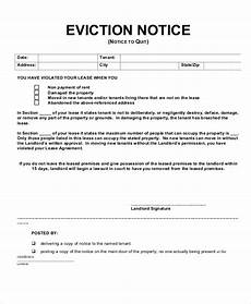 Eviction Notice Form 14 Printable Eviction Notice Forms Pdf Google Docs Ms
