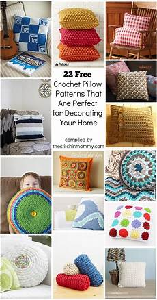 22 free crochet pillow patterns that are for