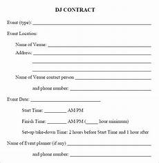 Dj Contracts Free 20 Sample Best Dj Contract Templates In Google Docs