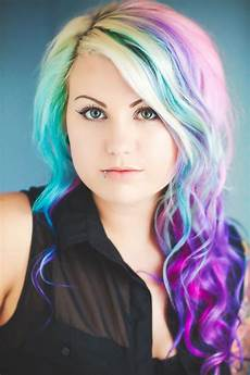 rainbow pastel hair is a new trend among