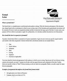 How To Format Formal Letter Free 7 Sample Addressing A Formal Letter Templates In Pdf