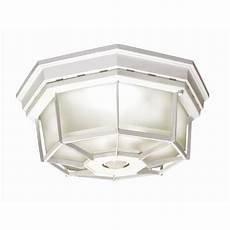 Lowes Overhead Lights Secure Home 11 9 In W White Motion Activated Outdoor Flush