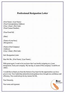 Professional Resignation Professional Resignation Letter 01 Best Letter Template