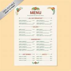 Menu Templates Downloads 23 Free Menu Templates In Pdf Ms Word Excel Psd