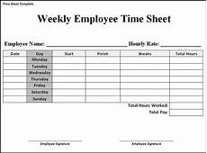 Standard Time Sheet For Description About This Template See Time Sheet