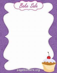 Bake Sale Template Word Printable Bake Sale Border Use The Border In Microsoft