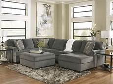 wohnzimmer sofa grau sole oversized modern gray fabric sofa sectional set