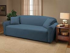 royal blue jersey sofa stretch slipcover cover