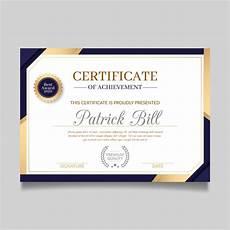 Design A Certificate Online Free Certificate Template In Elegant Design Free Vector