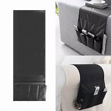 sofa arm rest tv remote organizer holder 4 pockets