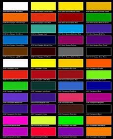 Automotive Color Charts Online Beadbag Colour Charts