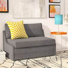 Small Pull Out Sofa 3d Image by Zipcode Design Sabine Sleeper Loveseat Reviews Wayfair