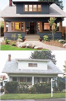 split level exterior before after search before