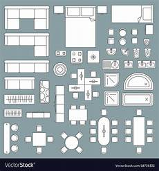 Furniture Planner Free Furniture Top View Architecture Plan Royalty Free Vector