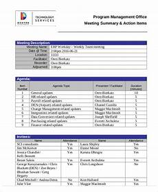 Action Item Template Word Action Agenda Templates 7 Free Word Pdf Format Download