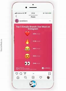 cele mai folosite emoji de branduri pe instagram