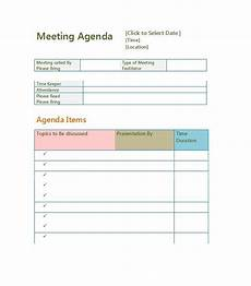 Agenda Template Word 2013 51 Effective Meeting Agenda Templates Free Template