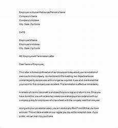 Termination Employee Letter Termination Notice Template 10 Free Word Excel Pdf