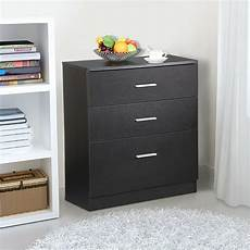 black wood 3 drawer file storage cabinet office filing