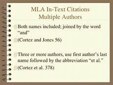 Works Cited Multiple Authors Mla Mla In Text Citations Latest Formatting And Style Guide