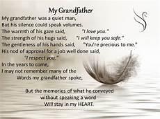 Funeral Speech For Grandpa Grandfather Memorial Poems
