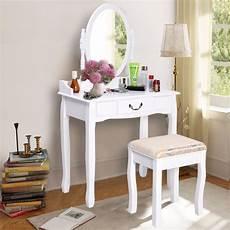 goplus 2017 new makeup dressing table vanity and stool set
