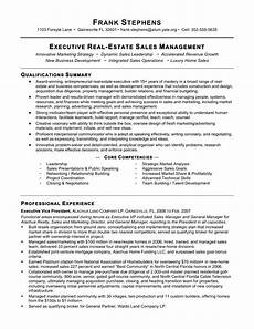 New Home Sales Resume Real Estate Sales Manager Resume Templates At