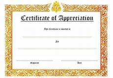 Token Of Appreciation Certificate 10 Editable Certificate Of Appreciation Templates Free