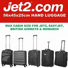 cabin bags size jet 2 holidays 56x45x25 max large cabin carry luggage