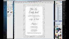 Free Programs To Make Invitations How To Make Wedding Invitations In Gimp Youtube