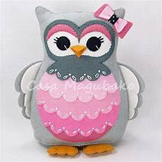 diy felt animals of owl pincushion with bowknot felt