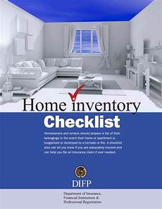 Home Inventory Insurance Home Inventory Checklist Missouri Department Of
