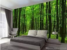 compre bosque fresco y hermoso bosque paisaje mural fondo