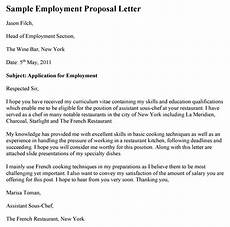 Job Proposal Letter Example Employment Proposal Letter Template