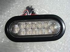 6 Oval Led Lights 6 Quot Oval Clear Lens Bright Red Led S Stop Turn Ebay