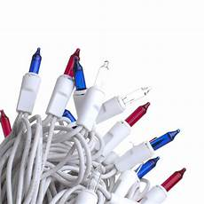 Red White Blue String Lights 50 Count Red White And Blue Electric String Lights