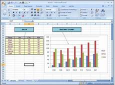 Charts And Graphs Microsoft Excel 2010 Quickly Create An Instant Chart In Microsoft Excel 2010
