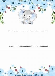 Cute Invitation Templates Free Printable Cute Baby Elephant Baby Shower