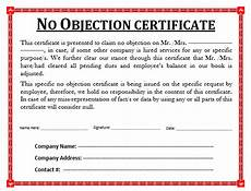 Affidavit For No Objection Certificate 21 No Objection Certificate Templates Free Printable