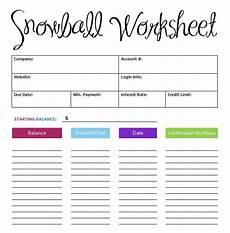 Snowball Debt Spreadsheet 5 Debt Snowball Spreadsheet Templates Word Templates